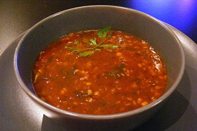 linssoppa utan krossade tomater
