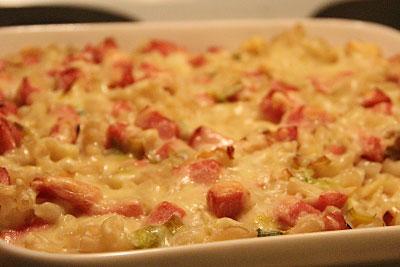 Makaronipudding recept