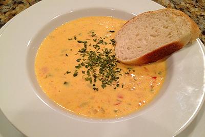 Ostsoppa recept