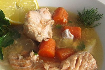 Rysk laxsoppa recept